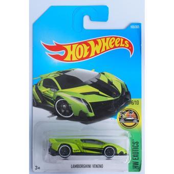 Xe ô tô mô hình tỉ lệ 1:64 Hot Wheels 2017 Lamborghini Vereno Hw Exotics 165/365 ( Màu Xanh )