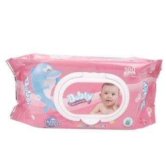 Bộ 3 gói khăn ướt Bobby 100 tờ mùi hương nhẹ nhàng (hồng)