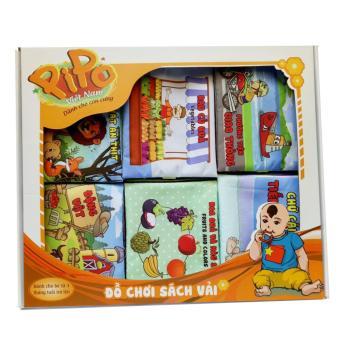Set 6 sách vải Pipo Vietnam (Hoa quả, động vật, hình khối, rau củ quả, cảnh báo nóng, số đếm)