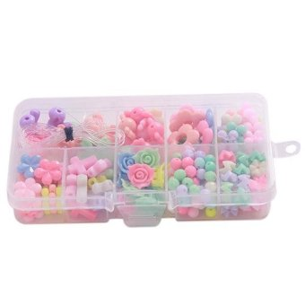 LALANG 10 Grids Colorful Fashion Beads Puzzles DIY Beads - intl