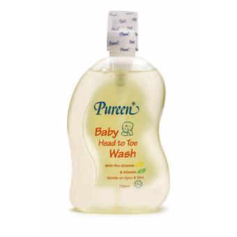 Sữa tắm gội toàn thân bổ sung Vitamin Pureen 750ml(Vàng chanh)