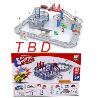 Bộ đồ chơi lắp ráp mô hình đường đua 88 chi tiết