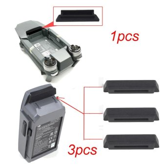 1PC For Frame 3PC For Battery Dustproof Plug Cover For DJI Mavic PRO Black - intl