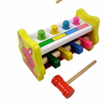 Đồ chơi búa đập thỏ bằng gỗ cho bé Ngân hà