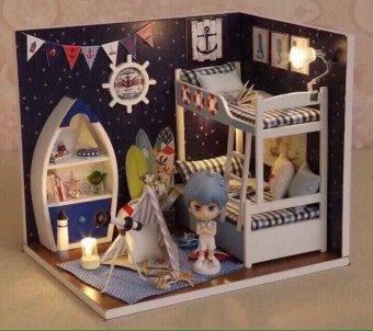 Mô hình nhà gỗ Clever Mart phát triển tư duy sáng tạo cho bé (Trắng)