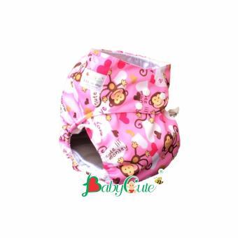 Bộ tã vải đêm BabyCute size XXL (40-60kg) Khỉ hồng