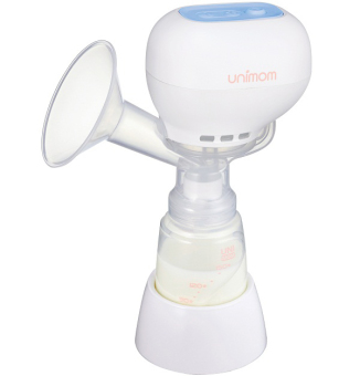 Máy hút sữa mẹ điện tử không có BPA Unimom K-POP ECO 871104 (Trắng)