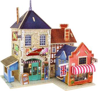 Bộ xếp hình 3D bằng gỗ mô hình Cửa hàng âm nhạc Anh quốc F132