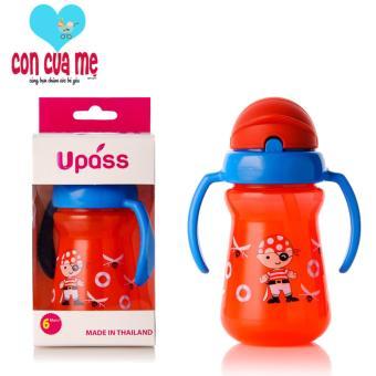 Cốc uống nước bằng ống hút 2 tay cầm Upass (Made in Thailand) UP0080N
