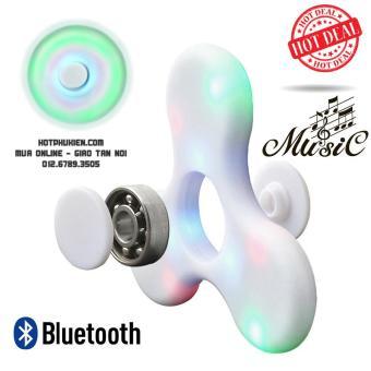 Con quay cao cấp Spiner Bluetooth Led phát sáng kiêm loa phát nhạc 2 in 1 kết nối điện thoại, máy tính bảng (Xanh)