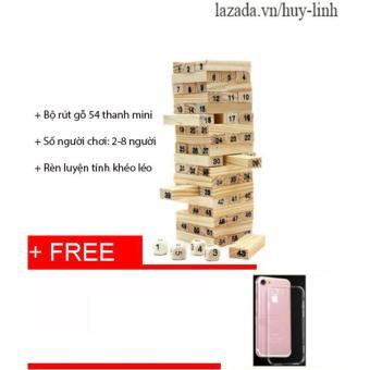 Bộ đồ chơi rút gỗ 54 thanh mini tặng ốp iphone 7 cực chất