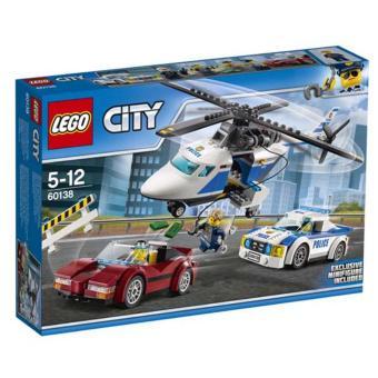 Hộp LEGO CIty Cuộc Truy Đuổi Tốc Độ 60138 (294 chi tiết)