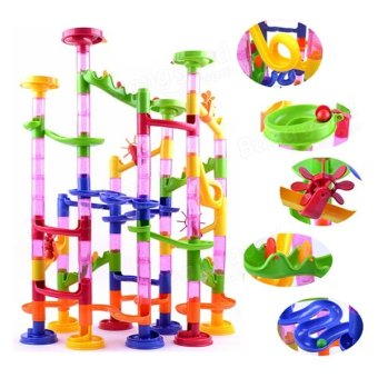 Marble Run Race Children Building Construction Blocks Creative Game - intl