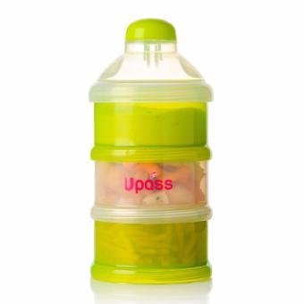 Upass-Hộp đựng sữa bột 3 ngăn có nắp lật UP8009NH