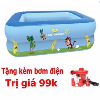 Bể bơi phao 3 tầng cho bé size to 150x110x50cm+ tặng bơm điện