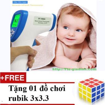 Nhiệt kế hồng ngoại cho em bé DT – 8806C + Tặng 01 bộ đồ chơi rubik loại 1