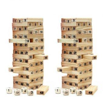 Bộ 2 đồ chơi rút gỗ 54 thanh
