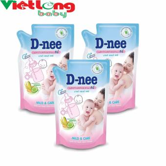Bộ 3 túi nước rửa bình sữa D-nee x 400ml