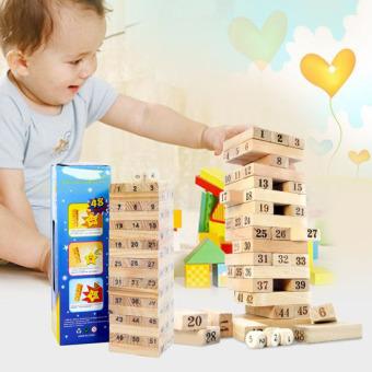 Bộ đồ chơi rút gỗ 54 thanh cho bé sáng tạo