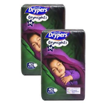 Bộ 2 tã dán Drypers Drynights M.40( 6-11kg)