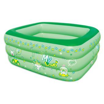 Bể bơi 3 tầng cho trẻ em ( xanh lá) - Hồng Nhung