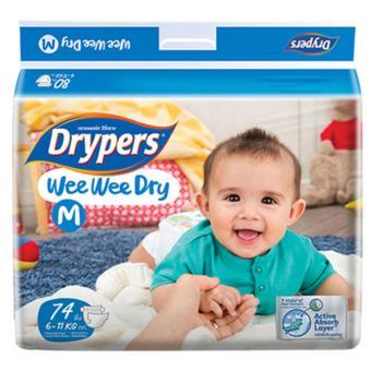 Tã dán Drypers Wee Wee Dry M.74 (6-11kg)