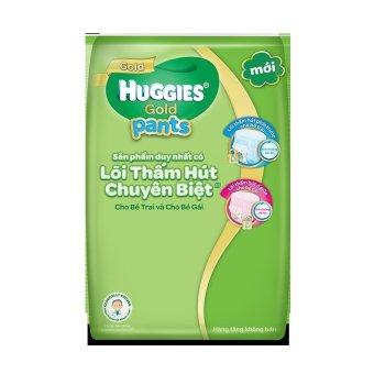 (Quà tặng không bán)Tã quần cao cấp HUGGIES GOLD bé gái L4( 4 Miếng )