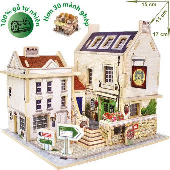 Mô hình nhà gỗ DIY - 3D Jigsaw Puzzle Wooden Toys HPMB6133