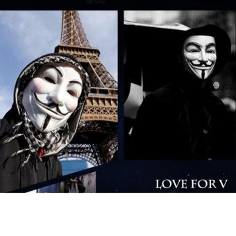 bộ 10 chiếc Mặt nạ Hacker mặt nạ Anonymous