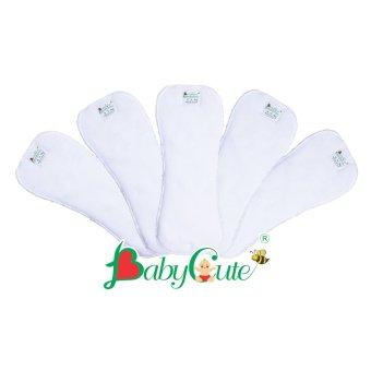 Bộ 5 miếng lót tã vải ban ngày Size S (3 - 9kg)