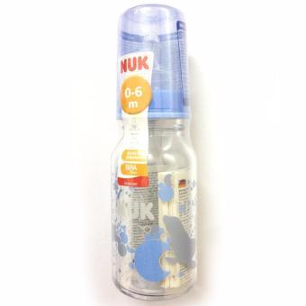 Bình sữa Nuk cổ nhỏ bằng thủy tinh 125ml núm silicon