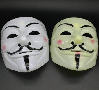 Bộ 2 Mặt nạ Hacker Anonymous (Vàng Trắng)