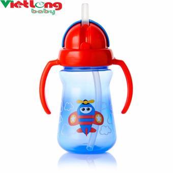 Cốc uống nước bằng ống hút 2 tay cầm Upass UP0080ND (Xanh dương nhạt)