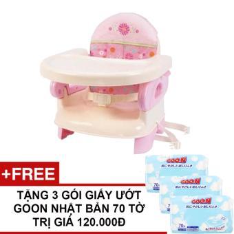 Ghế ăn cho bé Summer SM13060 + Tặng 3 gói giấy ướt Goo.N Nhật Bản 70 tờ