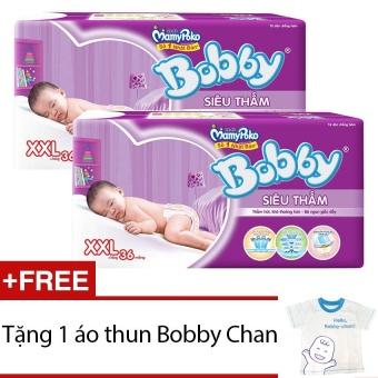 Bộ 2 gói Tã Giấy Bobby Fresh Siêu Thấm XXL36 - Tặng 1 áo thun