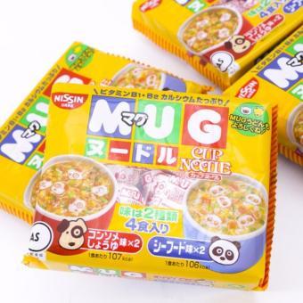 Bộ 4 Gói Mì Tôm Tập Ăn Mug Nissin Nhật Bản