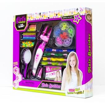 Bộ đồ chơi phụ kiện làm tóc Paktattoys HSP8343 (Tím)+ Tặng vòng tay sillicon cho trẻ em