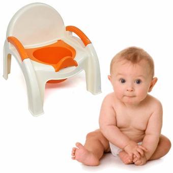 Bô ghế vệ sinh cho bé (Cam)