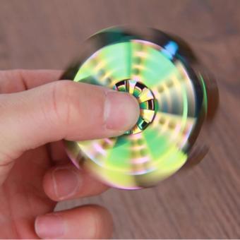 Con Quay đa sắc đổi mầu bằng kim loại Fidget Spinner không ma sát xả stress -kstore
