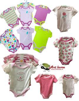 Combo 5 áo liền quần (body suite Baby Gear) cho bé gái từ 0-3 tháng (mầu sắc bất kì)