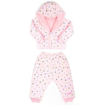 Bộ quần áo bông ba lớp Lullaby (Hồng)