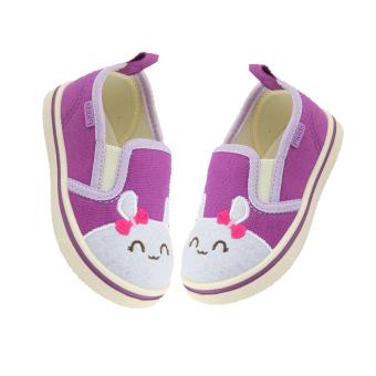 Giày lười đế cao su Polly Kids Kitty M-064 (Tím)