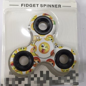 Đồ chơi con quay Fidget Spinner Cao cấp (hoa văn mặt cười Emoticon)