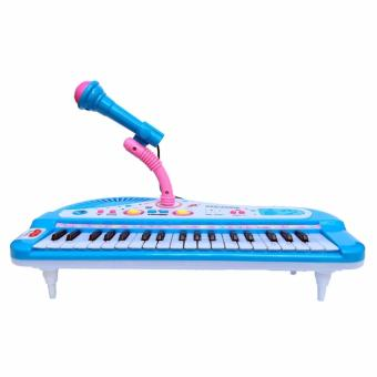 Đàn Piano Mini Có Mic Cho Bé ( XANH)