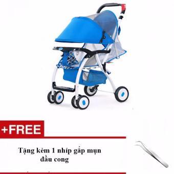 Xe nôi đẩy trẻ em Baobaohao 722C + Tặng kèm 1 nhíp gắp mụn đầu cong (Đỏ)