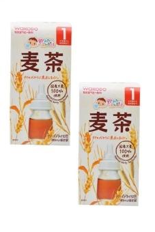 Bộ 2 hộp trà Bailey Wakodo hương lúa mạch cho bé từ 1 tháng tuổi