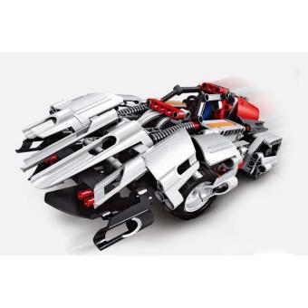 Bộ đồ chơi lắp ráp xe đua có kèm điều khiển