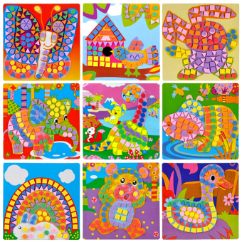3D Mosaics Creative Sticker Game Arts Craft for Kids EVA Educational Toy
