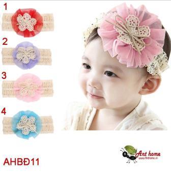 Phụ kiện tóc băng đô handmade cao cấp AHBĐ11 hồng (mẫu số 3)