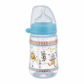 Bình sữa NIP PP cổ rộng 260 ml hình xiếc cỡ quốc tế 0+ NIP35042